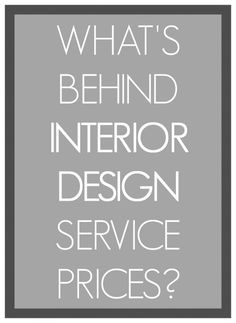 Fantastic article on design fees, not slanted from either point of view, just articulates well the range of serves and you get what you pay for.   Orig article by: Linda Merrill  #interior design service prices