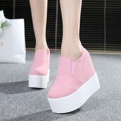 Sweet cute high-heeled platform shoes