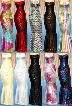 The simsperience: 10 Concerto Dresses • Sims 4 Downloads