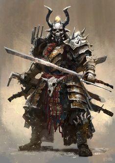 Post Apocalyptic Samurai, Conor Burke on ArtStation at https://www.artstation.com/artwork/zK9Jm
