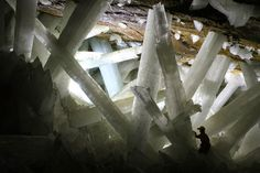 Geology IN: The huge Crystals Cave at Naica, Mexico.