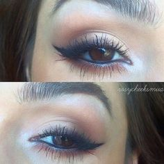 Kat Von D Shade & Light Eye Contour Palette / Urban Decay Naked Palette / Smokey Winged Liner   @shayahmakeup