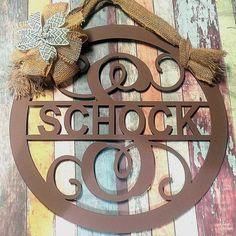 Door Hanger, Door Wreath, personalized hanger, Front Door Decor, Metal Sign, Monogram Door Sign, Metal Letter, Family Name, Last Name Sign
