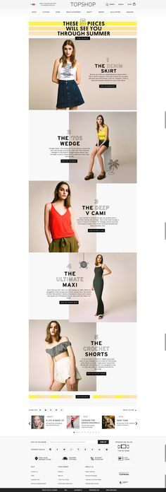 BOX LAYOUT WITH A BOLD FONT TREATMENT  topshop summer trend landing page