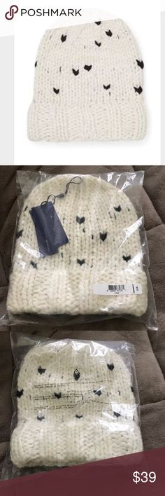 Rebecca Minkoff Hand-Knit Headphones Beanie NWT Small on-ear headphones on the inside of the beanie hat 68% Acrylic, 29% Wool, 3% Nylon Rebecca Minkoff Accessories Hats