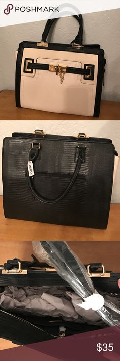 Selling this large color block tote with custom hardware on Poshmark! My username is: wpetunia. #shopmycloset #poshmark #fashion #shopping #style #forsale #Aldo #Handbags