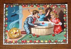 "Vintage Embossed Halloween Postcard ""The Joys of Hallowe'en"" | Flickr - Photo Sharing!"