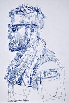For 'Operators' Pen is Mightier Human Figure Sketches, Figure Sketching, Hyper Beast Wallpaper, Drawing Sketches, Art Drawings, Soldier Drawing, Character Art, Character Design, Apocalypse Art