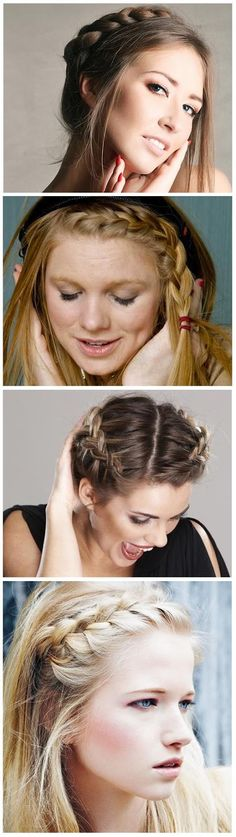 4 Different Crown Braid For Hair | hairstyles tutorial