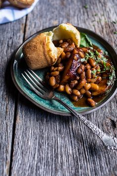Bourbon Peach BBQ Baked Beans | Half Baked Harvest Baked Bean Recipes, Beans Recipes, Bbq Baked Beans, Yummy Vegetable Recipes, Pellet Grill Recipes, Smoking Recipes, Veggie Side Dishes, Half Baked Harvest, Side Dish Recipes