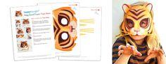 10 easy printable animal mask templates. Homemade costume ideas - Press GIF to play image!