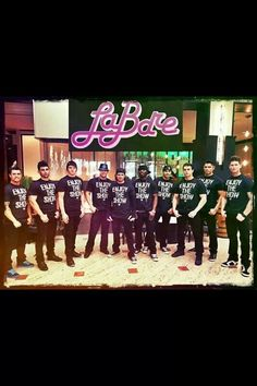 LaBare Dallas doing their thing in Chicago.  L-R: Cesar, Kayden, Channing, Adonis, Lance, Ace, David, Jason, Diego, & Carter