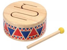 Plan Toys at Babipur. Drummers will love this Plan Toys Solid Drum with a cut-out curved line on the top. This line makes different sounds when the drum is tapped in different places. It comes with one drumstick with a rubber head for softer sounds. Toddler Toys, Kids Toys, Children's Toys, Drum Music, Plan Toys, Musical Toys, Educational Toys, Wooden Toys, Drums