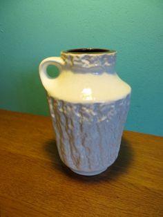 Gloss white West Germany fat lava vase. 22cm £30