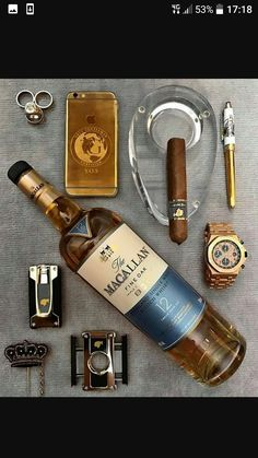 Cigars And Whiskey, Pipes And Cigars, Scotch Whiskey, Whiskey Gifts, Good Cigars, Bracelets Design, Cigar Bar, Cigar Club, Cigar Room