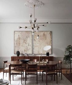 Tour a Classic and Luxurious Stockholm Apartment – Nordic Design – Lighting – Magazine Interior Design Blogs, Interior Design Inspiration, Home Design, Nordic Design, Design Design, Modern Design, Design Ideas, Stockholm Apartment, Dining Room Inspiration