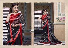 Designer Indian Pakistani Bollywood Printed Georgette Party Wear Saree New sari Crepe Saree, Satin Saree, Georgette Sarees, Cotton Saree, Bollywood Party, Black Saree, Net Saree, Casual Saree, Indian Sarees