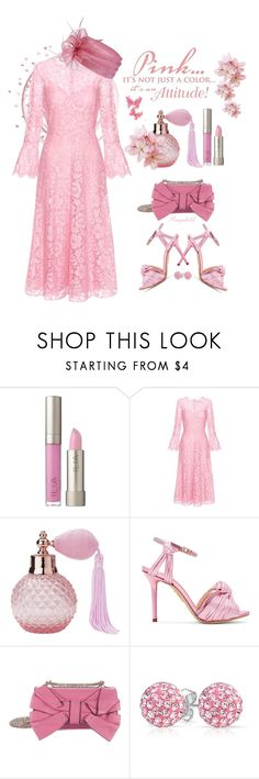 """""""Monochrome Pink from Head to toe🌸"""" by ragnh-mjos ❤ liked on Polyvore featuring Ilia, Valentino, Lisbeth Dahl, Charlotte Olympia, Bling Jewelry, contest, outfit, Flowers and monochromepink"""