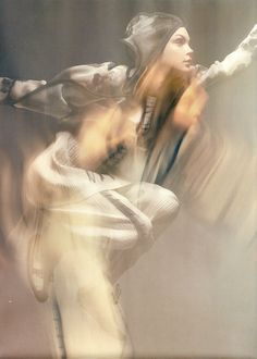 """Ultraviolet Garden"" Another Magazine Fall/Winter 2007 Jessica Stam by Craig McDean Styled by Marie Amelie Sauvé. Slow Shutter Speed Photography, Motion Photography, Abstract Photography, Creative Photography, Editorial Photography, Portrait Photography, Fashion Photography, Tim Walker, Multiple Exposure"