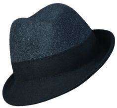 7afe9dfe8b2 One of a kind Callanan two toned Tribly fedora hat with a beautiful  asymmetrical inch and