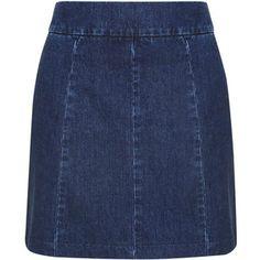 TopShop Moto Clean Seam a-Line Skirt
