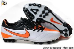 Latest Listing Discount Nike Total90 Laser IV AG Football Black Orange White Soccer Boots On Sale