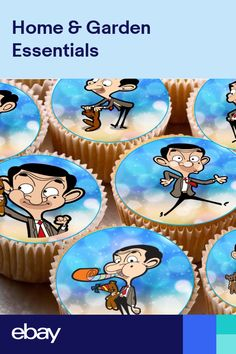 Decorations & Cake Toppers Home, Furniture & DIY Mr Bean Cake, Bean Cakes, Mr Bean Birthday, 3rd Birthday, Birthday Cake Icing, Mr. Bean, Happy Birthday Hearts, Fairy Cupcakes, Birthday Congratulations