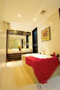Chinese modern style home bathroom decoration design effect drawing