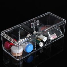 Clear Acrylic Cosmetic Organizer Makeup Storage Container Case Display