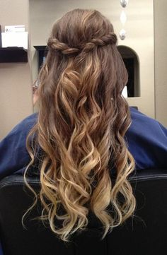 Half Braid & Curls - Hairstyles and Beauty Tips