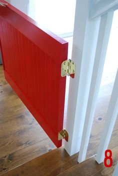 Little Red Door baby gate tutorial