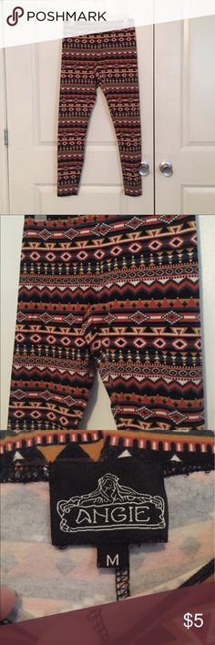 Printed leggings Multi colored printed leggings Angie Pants Leggings