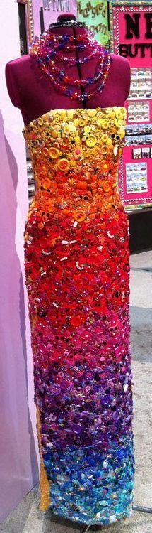 Mosaic button dress.!!!!!!