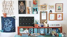Geninne D Zlatkis Owner, Maker, Designer, Curator - her Studio wall