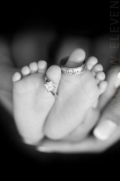 """""""All because two people fell in love…♥"""" - very cute idea for a baby photo"""