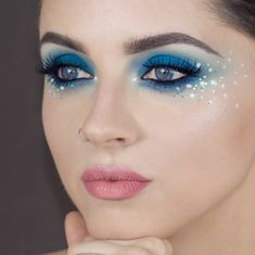 Mila mua on who says that blue eyeshadow can not look good on blue eyes thebalm_cosmetics meet matte hughes liquid lipstick in doting and mery Festival Makeup Glitter, Glitter Makeup, Makeup Eyeshadow, Eyeliner, Meet Matte, Dark Lipstick, Liquid Lipstick, What Is Makeup, Rhinestone Makeup