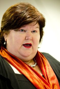 Belgium's 280 pound Health Minister, Maggie De Block. She's a general practitioner who is highly qualified for the job, but her appointment drew fire from critics who thought her too fat be health minister. Screw the critics! Oh, and she's apparently one of the most popular politicians in Belgium.