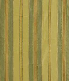 Robert Allen Aba Stripe Leaf Fabric