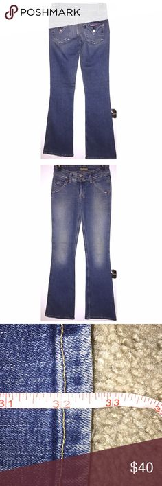 "Hudson Jeans Hudson Jeans in size 27 with a 32.5"" inseam come in preloved and VERY GOOD condition! Some light wear near the pockets and at the hems...very light wear! Low rise, medium wash and boot cut. These are the thick denim Hudsons. An awesome and sturdy pair of jeans!❤️ Hudson Jeans Jeans Boot Cut"
