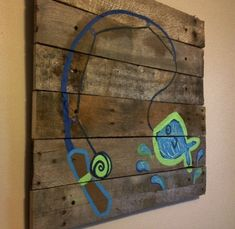 Fish+artFishing+pole21x21Rustic+ArtFishing+by+RusticTreeHouse,+$70.00