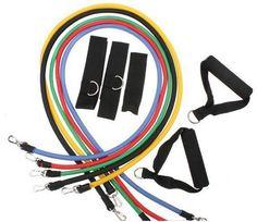 Fitness Tubes 11teiliges Expander Set / Resistance Bands Exercise Tubes neu im Sortiment, CHF 39.99