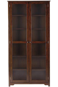"""Oxford 72""""H Bookcase with Glass Doors - Glass Door Bookcases - Bookcases - Furniture 