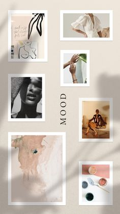 color palette and mood board for a modern brand. Neutrals and grey. Instagram Design, Aesthetic Pastel Wallpaper, Aesthetic Wallpapers, Magazin Design, Social Media Template, Social Media Icons, Aesthetic Collage, Instagram Story Template, Grafik Design