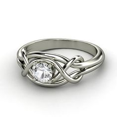 Gorgeous design for an engagement ring, with double infinity symbols