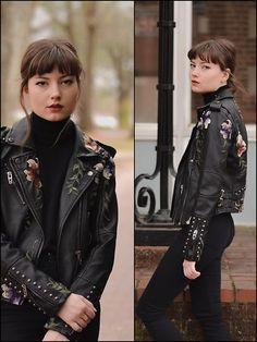 Get this look: http://lb.nu/look/8615097  More looks by Tiff: http://lb.nu/user/5583098-Tiff  Items in this look:  Urban Outfitters Vegan Embroidered Moto Jacket