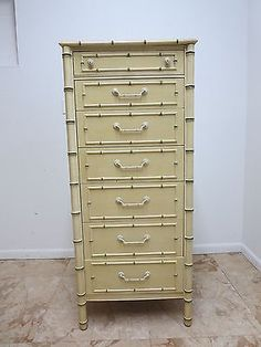 Thomasville Painted French Regency Faux Bamboo Louis XV Dresser Lingerie  Chest | EBay.
