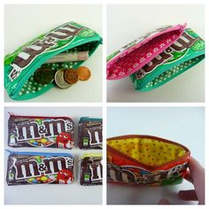 M & M Candy Coin Purse par BeneficialBento sur Etsy, $8.00 LA VERTE ! <3