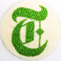 Thinking spring with a logo made out of peas and mashed potatoes. (Photo: Sara Bonisteel/The New York Times)