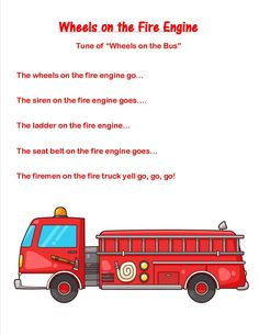 """I have a series of community helper lesson plans called """"My Friend, the…"""" They all focus on a different occupation. This week we did the firefighter! Books: Curious George and the Firefighters by … Community Helpers Lesson Plan, Community Helpers Crafts, Songs For Toddlers, Kids Songs, Parenting Toddlers, People Who Help Us, New People, Transportation Songs, Preschool Music"""