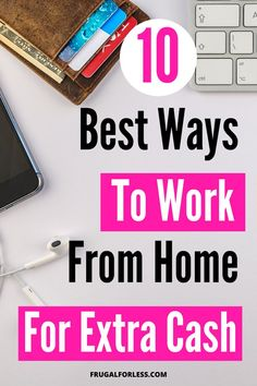 10 ways to work from home so that you can make extra money online. This is great for stay at home moms and college student. Make Money Fast Online, Make Money From Home, Way To Make Money, How To Make, Single Mom Jobs, Money Making Websites, Survey Sites That Pay, Online Business Opportunities, Making Extra Cash